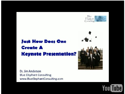"Dr. Jim Anderson's ""How To Create A Keynote Speech"" Video"